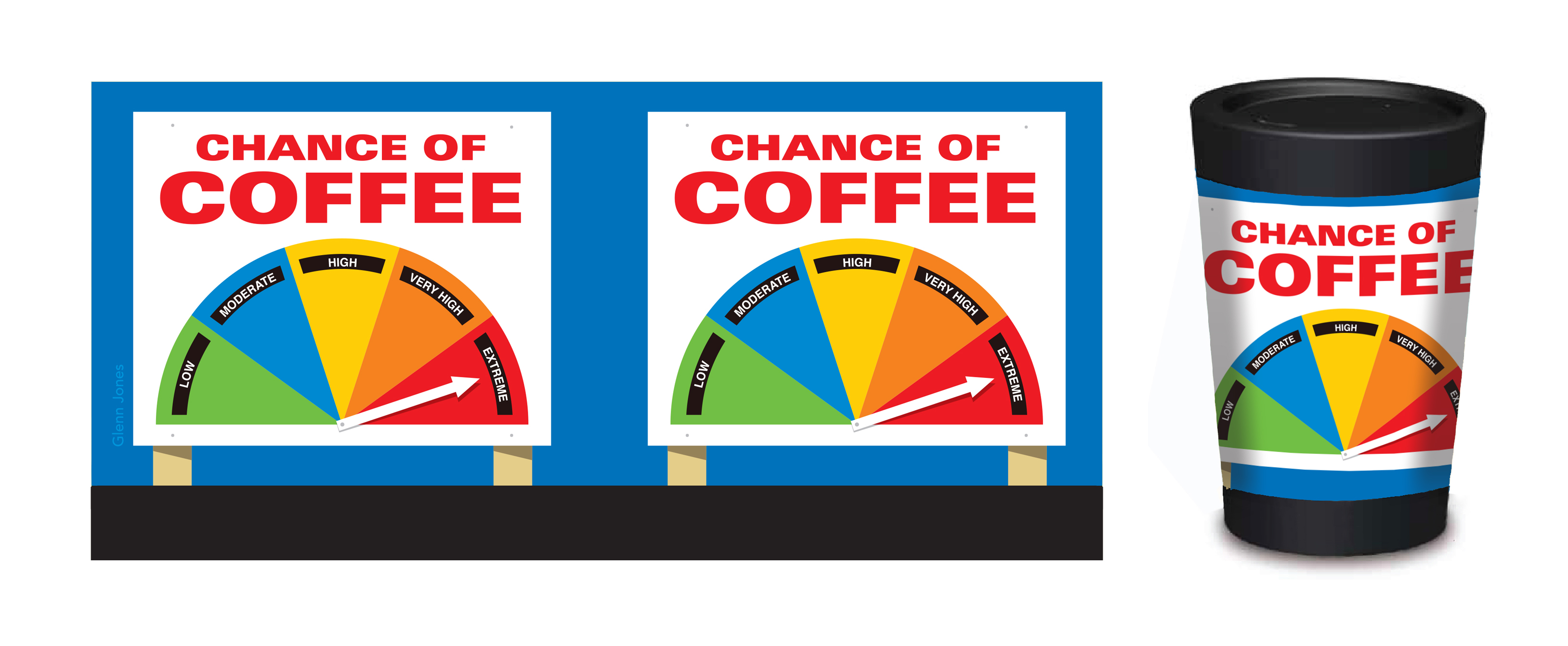 Image of Chance of Coffee Coffee Mug – Designed by NZ Artist Glenn Jones | Designer Coffee Mugs
