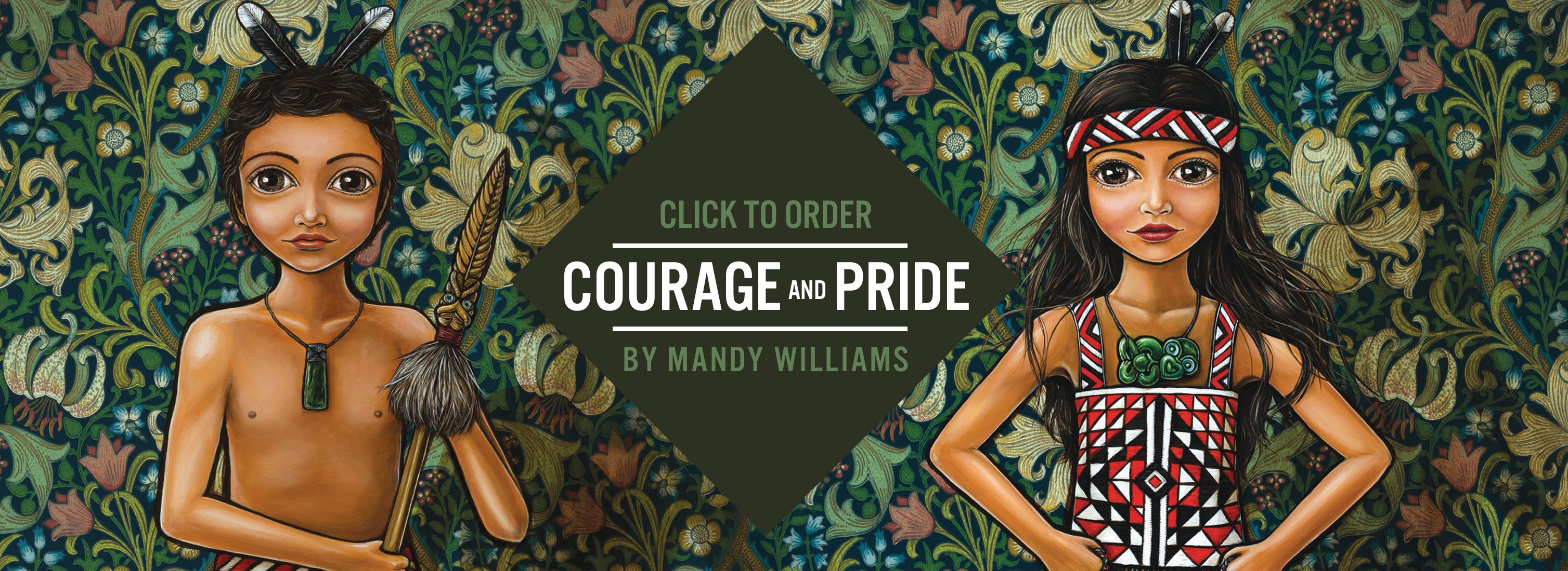 Image of Courage and Pride Coffee Mug – Designed by NZ Artist Mandy Williams | Designer Coffee Mugs